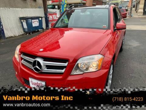 2011 Mercedes-Benz GLK for sale at Vanbro Motors Inc in Staten Island NY