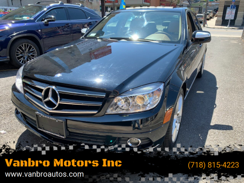2008 Mercedes-Benz C-Class for sale at Vanbro Motors Inc in Staten Island NY