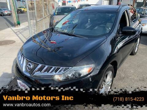 2009 Nissan Murano for sale at Vanbro Motors Inc in Staten Island NY