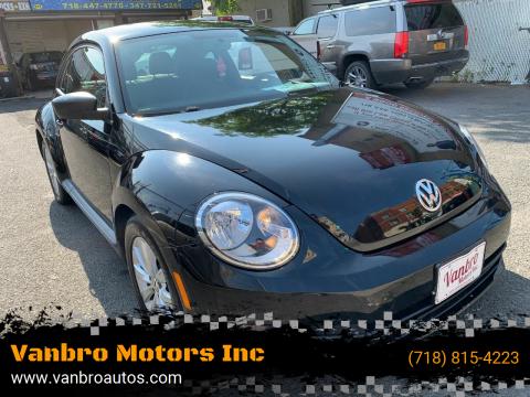 2013 Volkswagen Beetle for sale at Vanbro Motors Inc in Staten Island NY