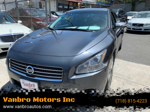 2010 Nissan Maxima for sale at Vanbro Motors Inc in Staten Island NY