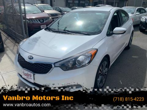 2014 Kia Forte for sale at Vanbro Motors Inc in Staten Island NY