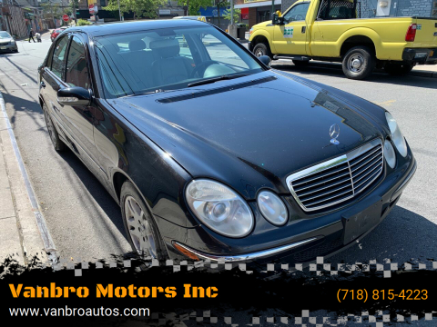 2005 Mercedes-Benz E-Class for sale at Vanbro Motors Inc in Staten Island NY