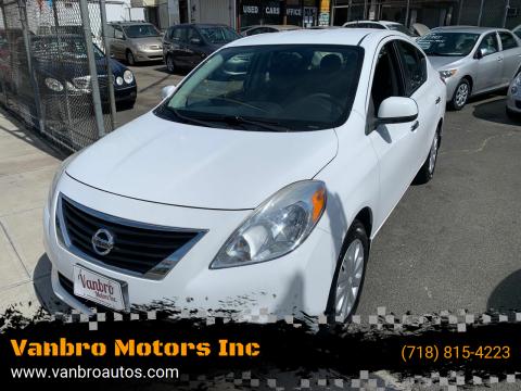 2012 Nissan Versa for sale at Vanbro Motors Inc in Staten Island NY