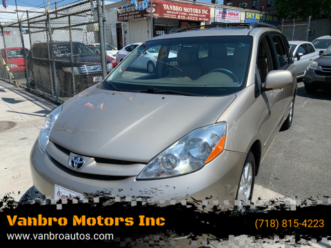 2009 Toyota Sienna for sale at Vanbro Motors Inc in Staten Island NY
