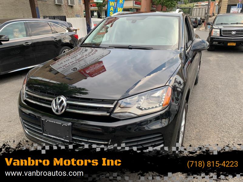 2012 Volkswagen Touareg for sale at Vanbro Motors Inc in Staten Island NY