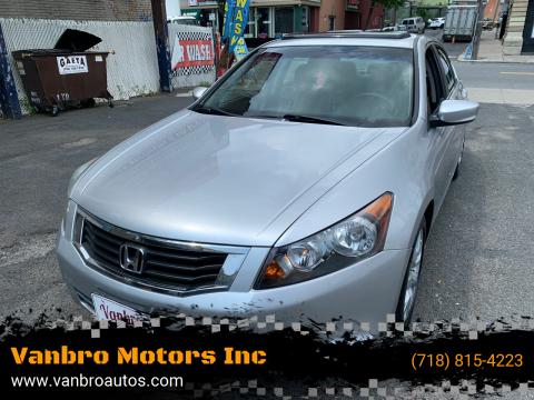 2008 Honda Accord for sale at Vanbro Motors Inc in Staten Island NY