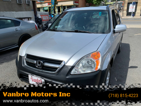 2004 Honda CR-V for sale at Vanbro Motors Inc in Staten Island NY