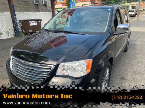 2014 Chrysler Town and Country for sale at Vanbro Motors Inc in Staten Island NY