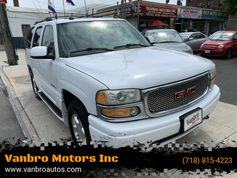 2004 GMC Yukon for sale at Vanbro Motors Inc in Staten Island NY