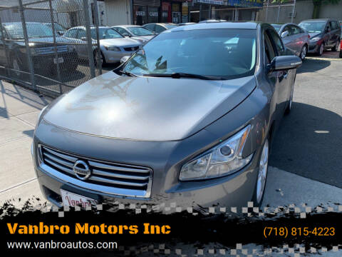 2014 Nissan Maxima for sale at Vanbro Motors Inc in Staten Island NY