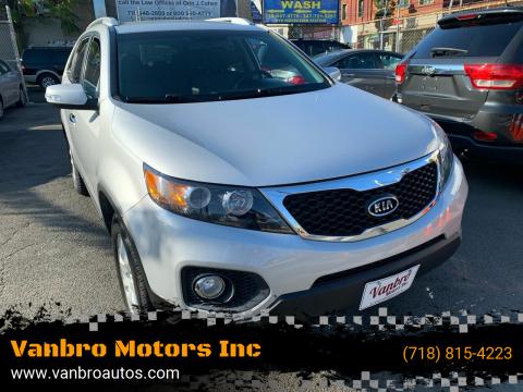 2013 Kia Sorento for sale at Vanbro Motors Inc in Staten Island NY