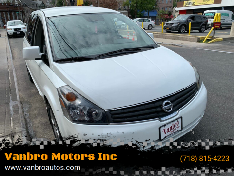 2009 Nissan Quest for sale at Vanbro Motors Inc in Staten Island NY