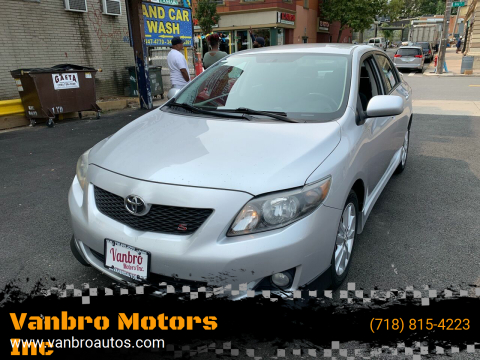 2010 Toyota Corolla for sale at Vanbro Motors Inc in Staten Island NY