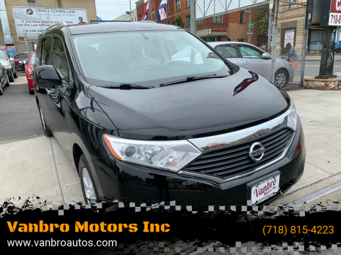 2013 Nissan Quest for sale at Vanbro Motors Inc in Staten Island NY