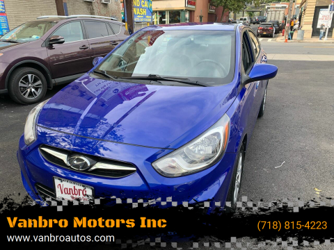 2013 Hyundai Accent for sale at Vanbro Motors Inc in Staten Island NY