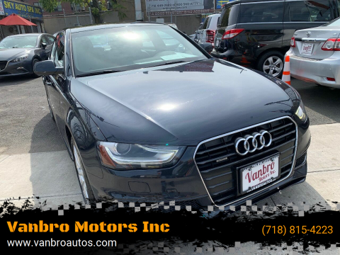 2015 Audi A4 for sale at Vanbro Motors Inc in Staten Island NY