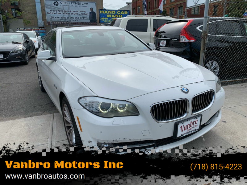 2013 BMW 5 Series for sale at Vanbro Motors Inc in Staten Island NY