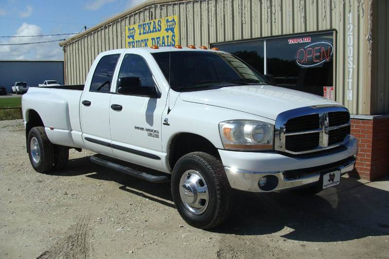 2006 Dodge Ram Pickup 3500 for sale at Texas Truck Deals in Corsicana TX