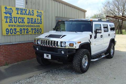 2007 HUMMER H2 for sale at Texas Truck Deals in Corsicana TX