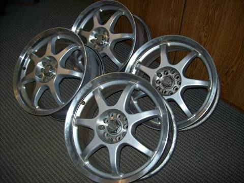 -1 MB Seven x Silver machined wheels