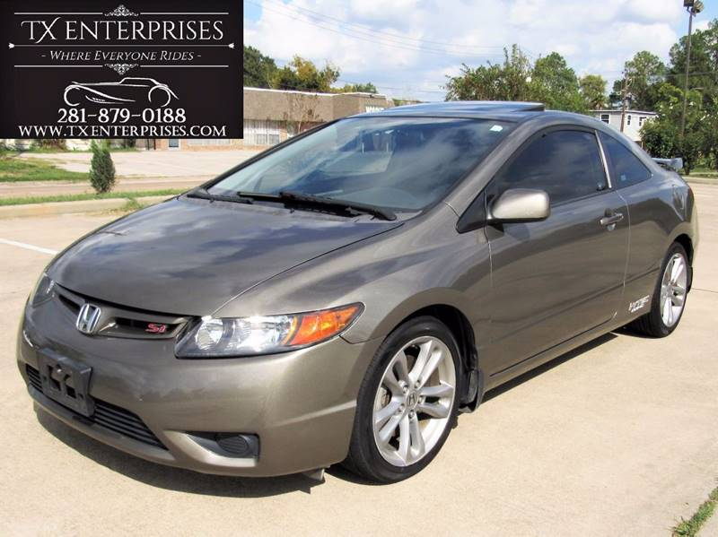 2008 Honda Civic Si 2dr Coupe W/Navi And Summer Tires   Houston TX