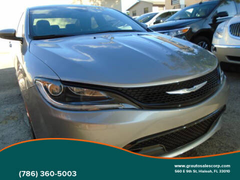 2016 Chrysler 200 for sale in Hialeah, FL