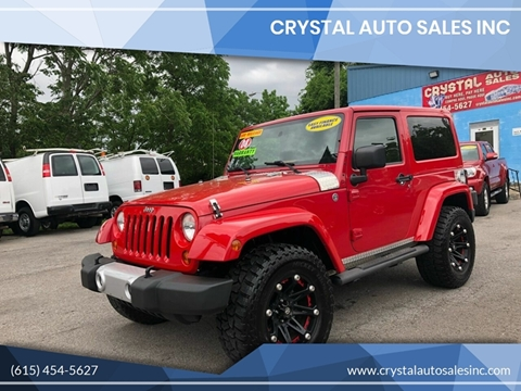 2008 Jeep Wrangler for sale at Crystal Auto Sales Inc in Nashville TN
