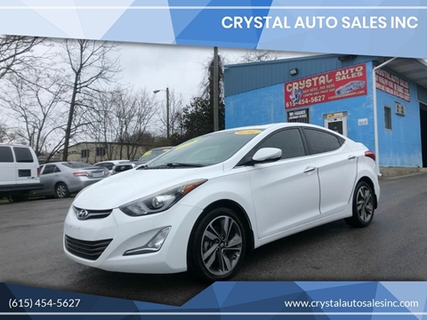 2014 Hyundai Elantra for sale at Crystal Auto Sales Inc in Nashville TN