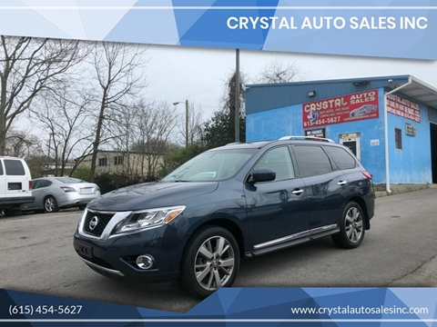 2013 Nissan Pathfinder for sale at Crystal Auto Sales Inc in Nashville TN
