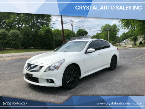2013 Infiniti G37 Sedan for sale at Crystal Auto Sales Inc in Nashville TN