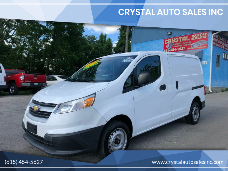 2015 Chevrolet City Express Cargo for sale at Crystal Auto Sales Inc in Nashville TN