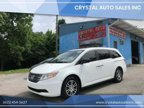 2012 Honda Odyssey for sale at Crystal Auto Sales Inc in Nashville TN