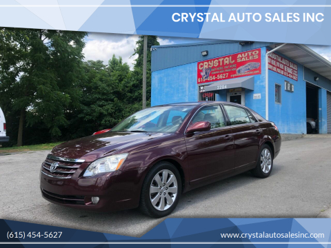 2007 Toyota Avalon for sale at Crystal Auto Sales Inc in Nashville TN