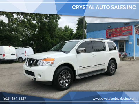 2015 Nissan Armada for sale at Crystal Auto Sales Inc in Nashville TN