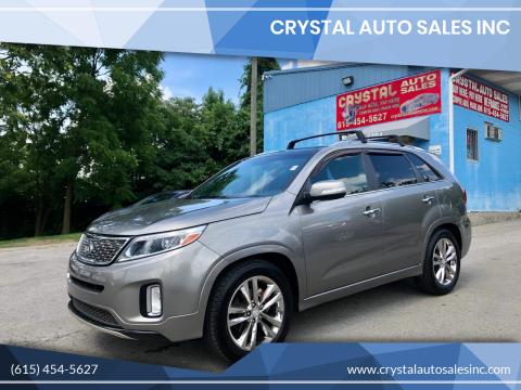 2014 Kia Sorento for sale at Crystal Auto Sales Inc in Nashville TN