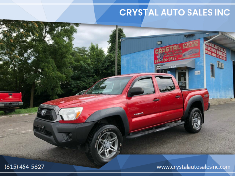 2013 Toyota Tacoma for sale at Crystal Auto Sales Inc in Nashville TN