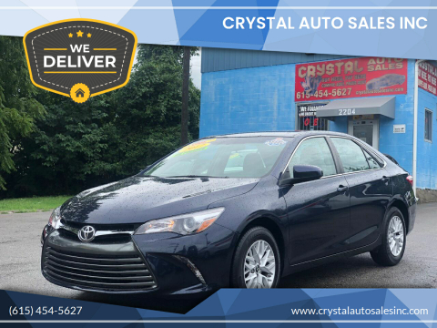 2017 Toyota Camry for sale at Crystal Auto Sales Inc in Nashville TN
