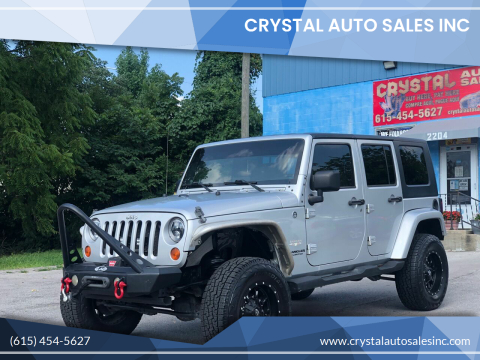 2008 Jeep Wrangler Unlimited for sale at Crystal Auto Sales Inc in Nashville TN