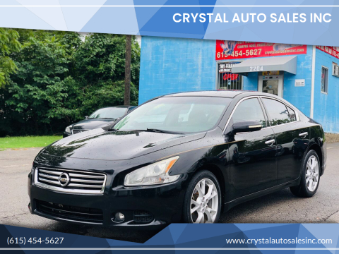 2012 Nissan Maxima for sale at Crystal Auto Sales Inc in Nashville TN