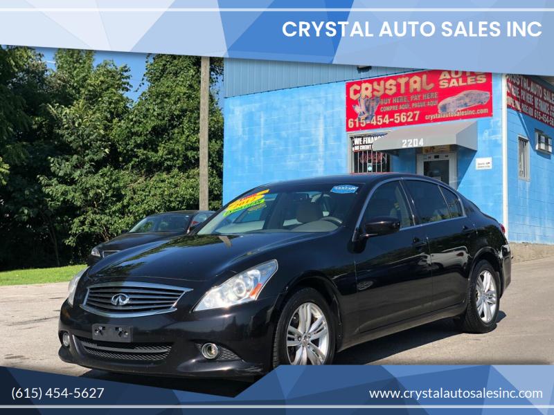 2012 Infiniti G37 Sedan for sale at Crystal Auto Sales Inc in Nashville TN