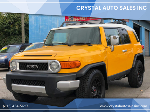 2007 Toyota FJ Cruiser for sale at Crystal Auto Sales Inc in Nashville TN