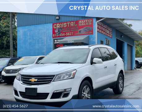 2016 Chevrolet Traverse for sale at Crystal Auto Sales Inc in Nashville TN