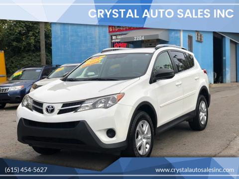 2015 Toyota RAV4 for sale at Crystal Auto Sales Inc in Nashville TN