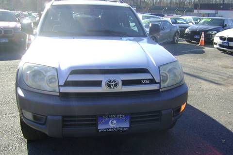 2003 Toyota 4Runner for sale at Balic Autos Inc in Lanham MD