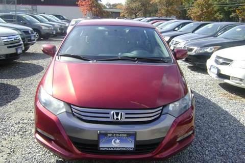 2010 Honda Insight for sale at Balic Autos Inc in Lanham MD