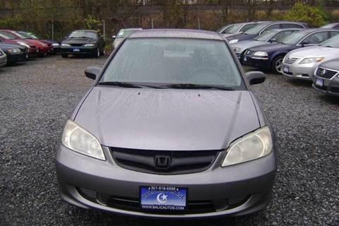 2004 Honda Civic for sale at Balic Autos Inc in Lanham MD