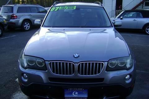 2007 BMW X3 for sale at Balic Autos Inc in Lanham MD