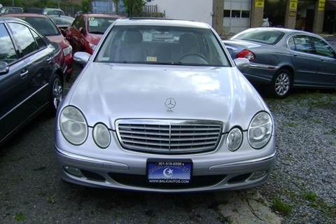 2005 Mercedes-Benz E-Class for sale at Balic Autos Inc in Lanham MD