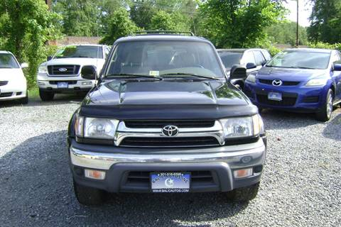 2002 Toyota 4Runner for sale at Balic Autos Inc in Lanham MD